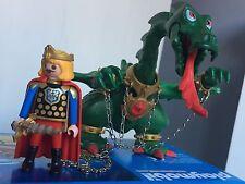 PLAYMOBIL COLECCIONISTAS MEDIEVAL Principe y Dragon Verde Prince Drago Vert