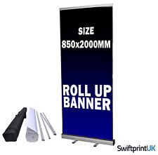 More details for roller banner printed your artwork eco pop/roll/pull up display exhibition stand