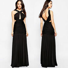 FOREVER UNIQUE Dress Black Size 12 Cut out low back Long Evening Ball prom Gown