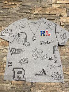 Polo Ralph Lauren Boys Rally Sports Football T Shirt L/XL Embroidered Logo Sport