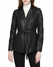 NWT $450 Marc New York Farley Belted Leather Jacket XS