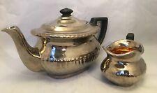More details for gibsons staffordshire england lustre ware silver teapot milk jug vintage w308