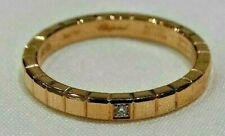 Chopard 18KT Rose Gold Ice Cube Diamond Ring Size 5.75