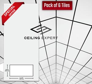 Suspended Vinyl Ceiling EasyClean Wipeable 1200mm x 600mm  1195mm x 595mm 6Tiles