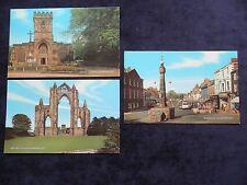 3 Vintage Postcards Guisborough, N. Yorks. Parish Church, Priory Ruins, Westgate