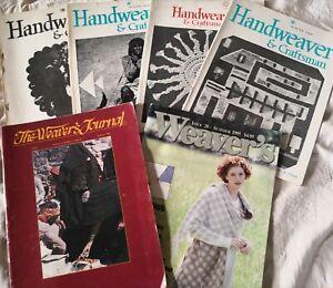 Assortment of 6 vintage US published Magazines on WEAVING