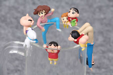 7Pcs/Lot PUTITTO Series Crayon Shin-chan Cup Edge Shinnosuke & Himawari Figure