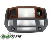 2006-2007 Dodge Ram 2500 3500 Radio NAVIGATION Bezel Slate Gray Wood MOPAR OEM