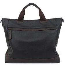 Genuine Leather Man  Briefcase Man Business Bags Man Bags Men's Bag B5055 Black