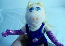 "fr- STUFFED 10"" PIG BY JIM HENSON POSABLE AND DRESSED UP AND FANCY SO CUTE"
