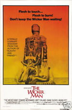 The wicker man Christopher Lee cult movie poster print