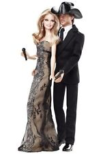 NEW BARBIE TIM McGRAW & FAITH HILL COLLECTOR SET PINK LABEL