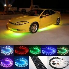 Sound Activated 7 Color LED Under Car Glow Underbody System Neon Lighting Lights