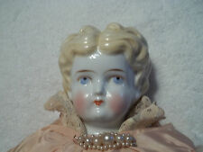 Antique China Head Doll #4 with Cloth Body & China Hands & Feet 18""