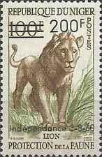 Timbre Animaux Félins Lions Niger 111 ** lot 22256 - cote : 17 €