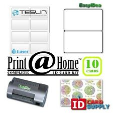 Complete Print @ Home Kit | Makes 10 PVC Like ID Cards | for Laser Printers