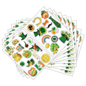 1 Set Removable Safe Festive Decals Paper Stickers for St. Patrick's Day