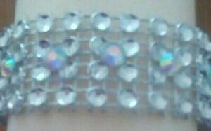 1 metre Silver Diamante mesh ribbon with Crystals  Cake Trim.