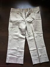 BHS Ladies Stone Coloured Cropped Trousers UK Size 12
