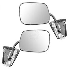Stainless Steel  Manual Side View Mirrors LH & RH Pair Set for Chevy Truck