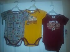 NFL Washington Redskins Baby Onsie 3 pack Set 18 Months New with Tags Redskins