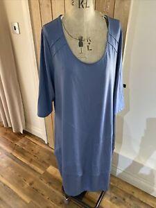 Womens Plus Size NEW Vetono Light blue Plain Jersey Dress Size 22