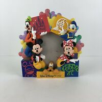 Disney World Parks Character Picture Frame Mickey Minnie Goofy Donald 3-D Resin