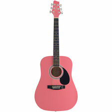 Stagg 3/4 Acoustic Dreadnought Guitar - Pink