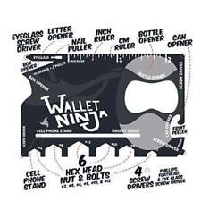 Wallet Ninja 18-In-1Tool Steel Pocket Screwdriver Bottle Opener Gadget