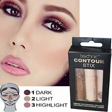 Technic Contour Stix Cream Contouring Crayons Bronzer Highlighter Dark Light