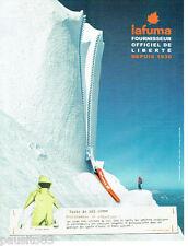 PUBLICITE ADVERTISING 115  2006  Lafuma   veste et vetements de ski