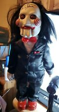 """Jigsaw Billy Puppet Doll Movie Saw 24"""" Rare Paper Magic Group 2004 2x autograph"""