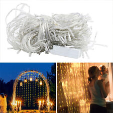 Indoor Outdoor Yard XMAS String Fairy Wedding Icicle Curtain Lights 300Leds 3*3M