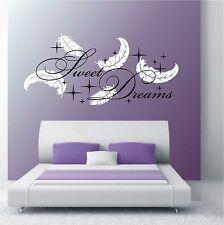 WANDTATTOO 2-farbig Sweet Dreams Sterne Schlafzimmer Deko Wandaufkleber HT 769