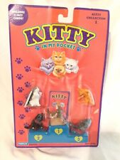 Vtg KITTY IN MY POCKET Collection #1 Hasbro 1994 SEALED Kitties NEW 90's Toys