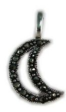 Marcarsite crescent moon sterling silver pendant- Sale Clearance
