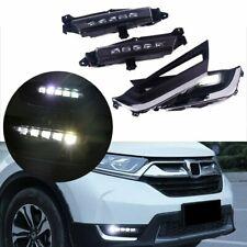 2Pcs For Honda CR-V CRV 2017 2018 LED DRL Driving Running Lights Head Fog Lamp