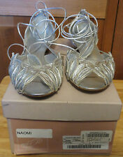 Miu Miu Leaves Argento (Silver) Women's Sandals Size 37 ½ with Box