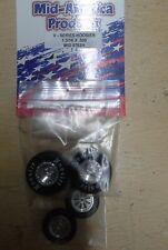 Mid America V Series Hoosier Drag Tire Set. 1 3/16 X 500