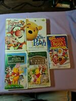 Walt Disney Winnie The Pooh Animated Movies VHS Lot Clamp Shell Tigger Pooh More