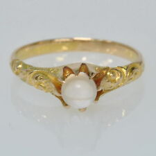 Antique Victorian 18k Yellow Gold Moonstone Solitaire