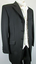 "PAGE BOYS BLACK PRINCE EDWARD EX HIRE 22"" CHEST WEDDING JACKET AGE 3 - 4  YEARS."