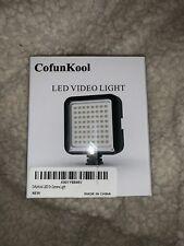 NWT Super Bright 64 LED Light Panel On Camera Light/Camcorder Video Light