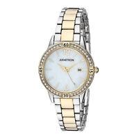 Armitron Women's Swarovski Crystal Accented Dial Two-Tone Bracelet Watch