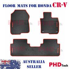 Premium Quality Honda CR-V CRV All Weather Rubber Floor Mats 2017-20 Red Trim