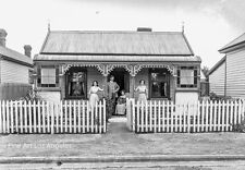 Adam MacLay Photo, Family in Front of Their Home, 1905, New Zealand