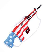 12 AMERICAN FLAG INFLATABLE TOY MACHINE GUN play 34 in blow up inflate boy rifle