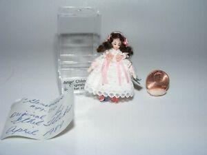 GENEVIEVE Artisan Dollhouse Miniature doll by Ethel Hicks Angel Children