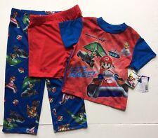 Mariokart 7~3 piece Mario pajama set~Ss Top/Pants/Shorts~Lightwei ght~4T~Nwt~Rare