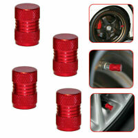 4X Red Auto Car Tyre Rim Valve Wheel Stem Air Port Dust Caps Cover Accessory HS